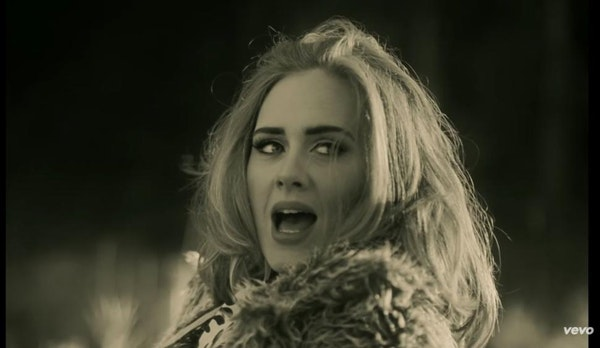"""Adele performs in the new music video for her song """"Hello."""""""