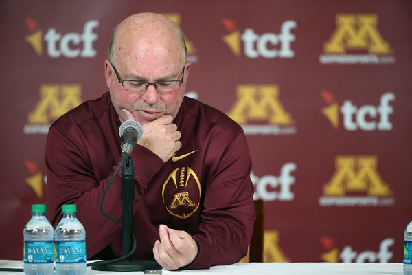 University of Minnesota football coach Jerry Kill speaks emotionally during a press conference Wednesday, Oct. 28, 2015, at TCF Bank Stadium in Minnea