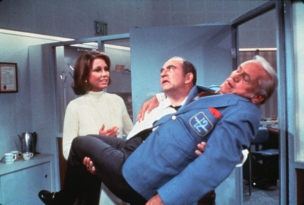 The Mary Tyler Moore Show (television show classic). Mary Tyler Moore is at left.