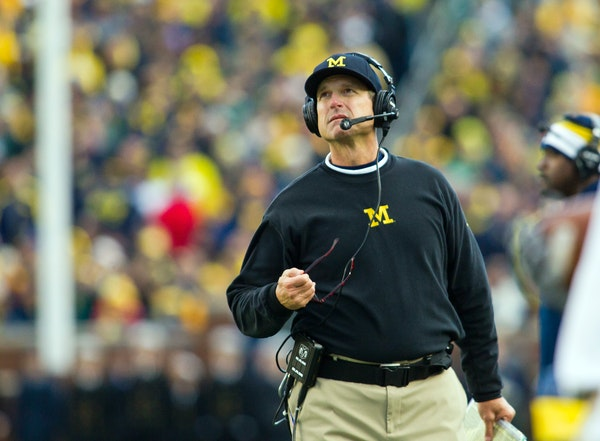 Michigan head coach Jim Harbaugh.