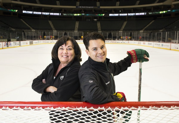 """Skating instructors Diane Ness and her son Andy recently were hired by the Wild as consultants. """"They're both incredible,"""" Wild winger Chris Por"""