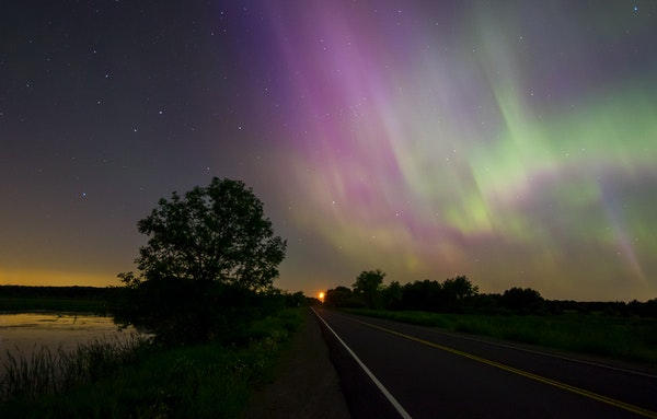 Northern lights near Stacy, Minn.