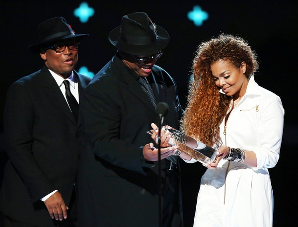 Terry Lewis and Jimmy Jam presented Janet Jackson with the Ultimate Icon Award in June during the 2015 BET Awards in Los Angeles.