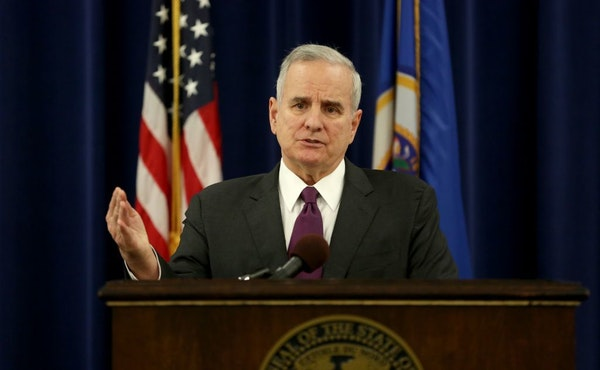 Gov. Mark Dayton addressed the media on many topics in addition to a special session to help steelworkers.