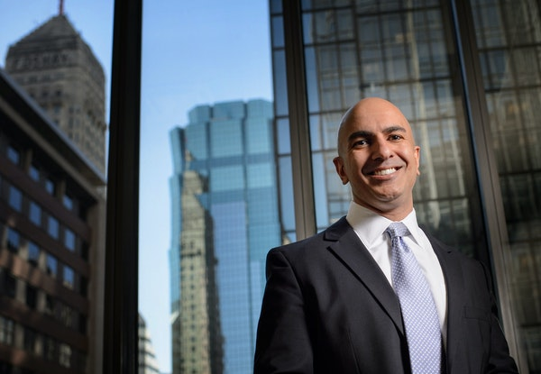 Neel Kashkari has been appointed 13th president and chief executive officer of the Federal Reserve Bank of Minneapolis, effective Jan. 1.