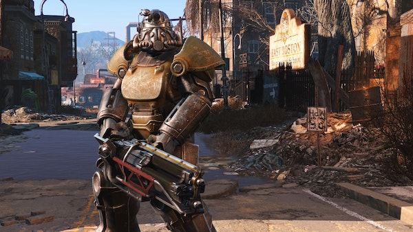 """""""Fallout 4"""" features powered armor that can be customized to your heart's content."""