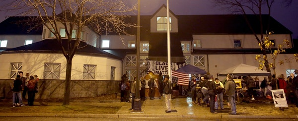 Earlier this week, protesters kept vigil at the Fourth Precinct station on Plymouth Avenue, which was the scene of damaging unrest in 1967 and of curr