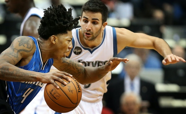 Orlando guard Elfrid Payton drove on Ricky Rubio on Tuesday, when the Wolves lost at home to an emerging Eastern Conference team.