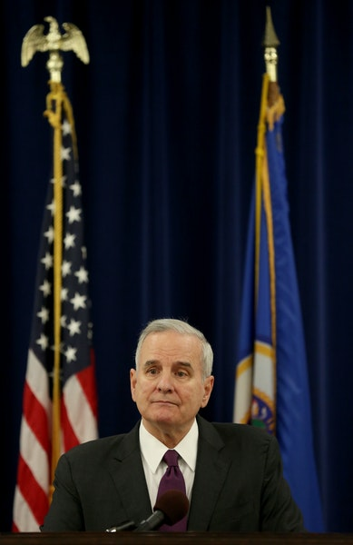 Gov. Mark Dayton called for a special session to help laid-off steelworkers on Tuesday in St. Paul. He also discussed the U.S. backlash against Syrian