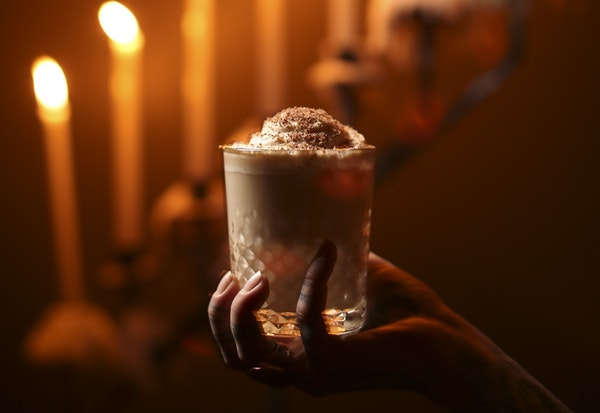 The Jeffrey, Constantine's take on a White Russian, with almond milk, coffee liqueur, espresso foam and vodka.