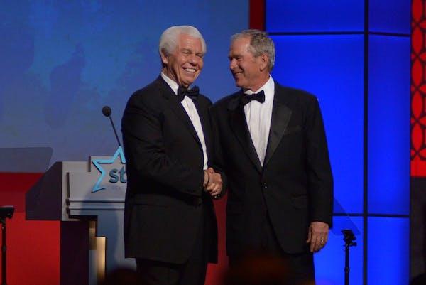 Starkey Hearing Foundation founder Bill Austin introduced former President George W. Bush at a Starkey Hearing Foundation gala.