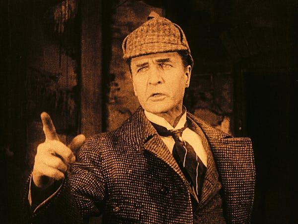 William Gillette plays Sherlock Holmes in a 1916 silent film.