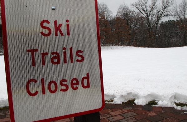 Washington County closed cross-country ski trails at Lake Elmo Regional Park early last week but reopened them later.