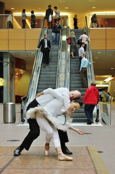 Noah Bremer and Sally Rousse performed last year in City Center. Radical Recess will be staged there Jan. 8.