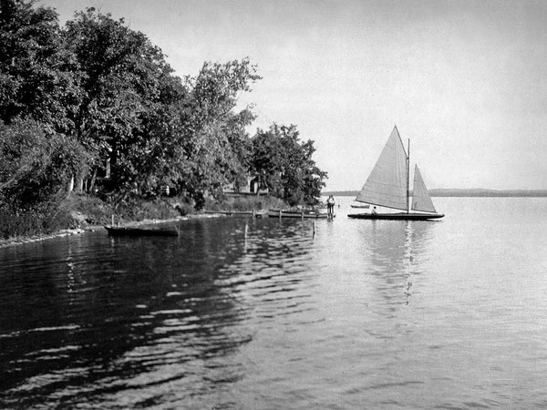 The DNR is charged with helping to protect the shores of Detroit Lake, shown here in 1927. A planned hotel project will move ahead next month.