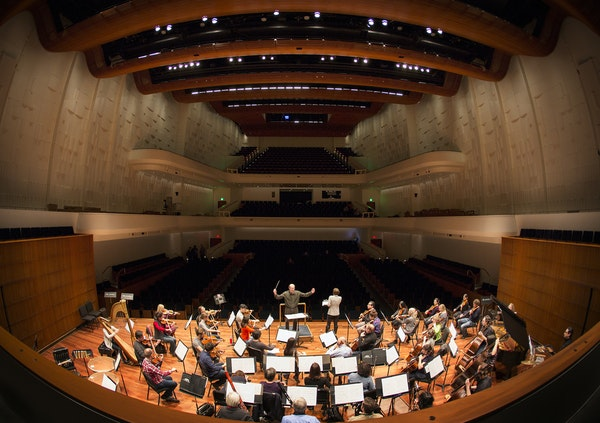 The St. Paul Chamber Orchestra in their new Ordway Concert Hall last spring.