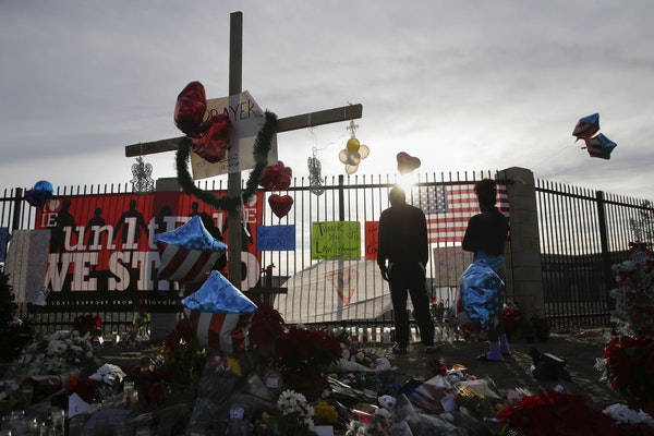 A makeshift memorial appeared days after the shooting rampage in San Bernardino, Calif. The Minnesota Poll on attitudes toward U.S. safety and securit