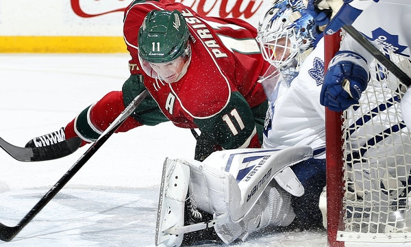 Zach Parise, who collided with Toronto goalie James Reimer, has been working to regain his familiar form after being hurt.
