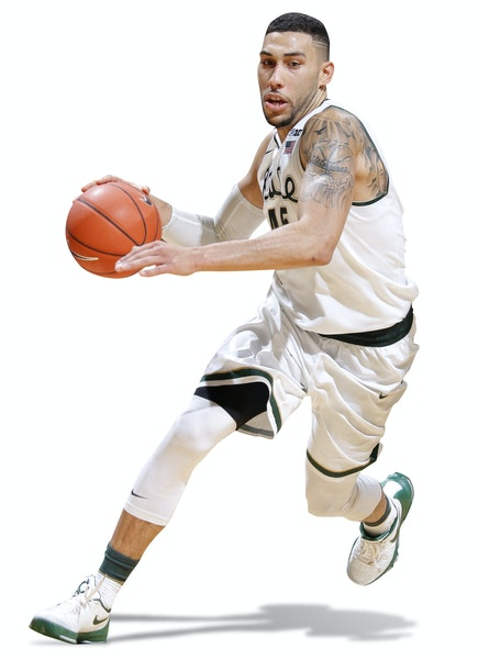 Michigan State's versatile Denzel Valentine is briefly out after minor knee surgery.