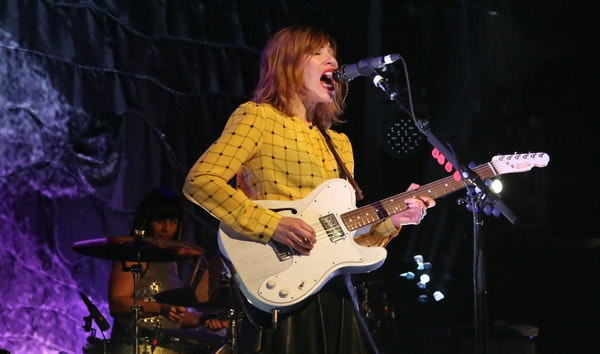 Carrie Brownstein and the rest of Sleater-Kinney performed at First Ave. in February.