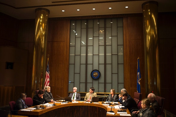 The St. Paul City Council at a December meeting. Council members said the city must now set broader goals and track progress.