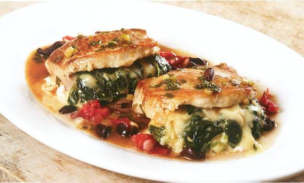 Spinach-Stuffed Pork Loin Chops