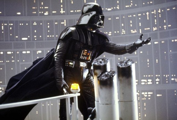 """Darth Vader is shown in a scene from Lucasfilm's """"Star Wars: Episode V: The Empire Strikes Back."""""""