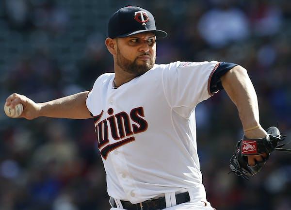 Minnesota Twins starting pitcher Ricky Nolasco (47) in the first inning. ] CARLOS GONZALEZ ï cgonzalez@startribune.com - October 4, 2015, Minneapolis