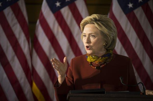 Democratic presidential candidate Hillary Clinton spoke at the University of Minnesota McNamara Alumni Center on Tuesday in Minneapolis.