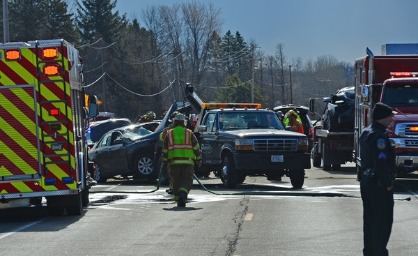 Authorities issued a challenge to motorists: Be so safe on Hwy. 12 there will be no vehicle fatalities in the next year, such as this one in Long Lake