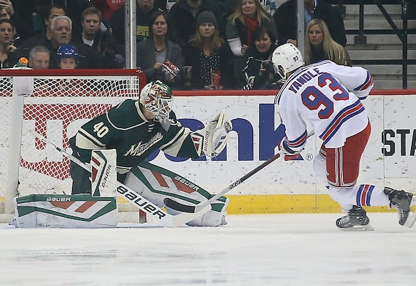 After joining the Wild in mid-January, Devan Dubnyk started 39 games in a row last season and went 27-9-2 with a 1.78 GAA.