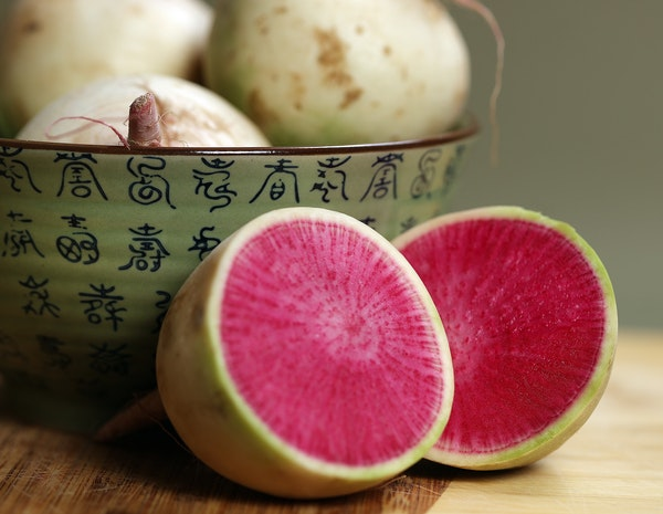 Heart radishes are easy to overlook in produce aisles.
