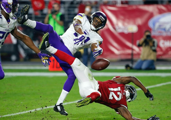 Anthony Harris breaks up a pass intended for Arizona Cardinals wide receiver John Brown. Harris got his shot and didn't waste it last week against t