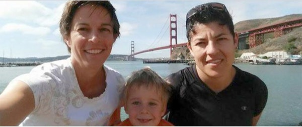 Air Force Maj. Adrianna Vorderbruggen, right, was killed while serving in Afghanistan. Vorderbruggen leaves behind her wife, Heather, and 4-year-old s