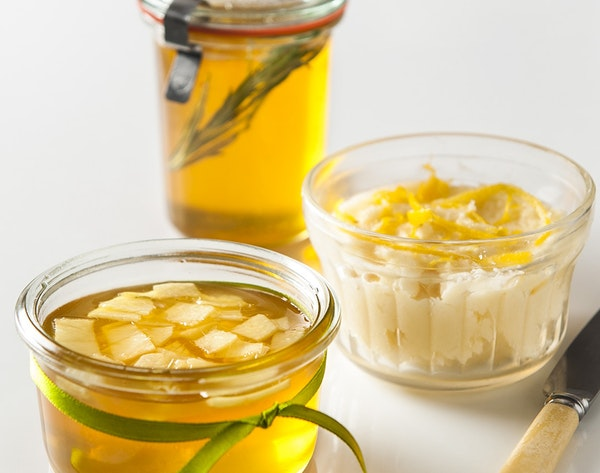 Brighten the flavors of honey by adding rosemary or ginger, or combine it with lemon and butter for a sweet spread.