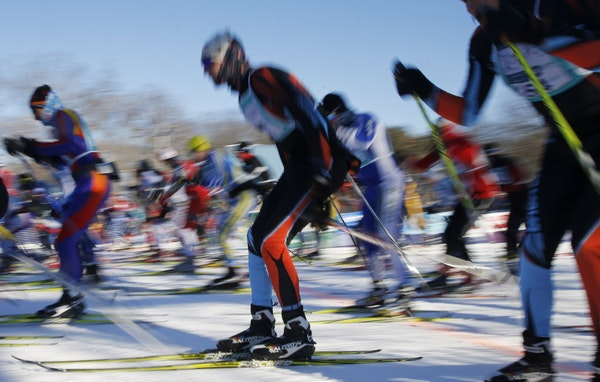 A scene from the City of Lakes Loppet Festival.
