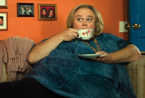 """Mommie dearest: Louie Anderson stars as Christine Baskets in the new FX comedy """"Baskets."""""""