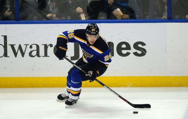Blues center Paul Stastny