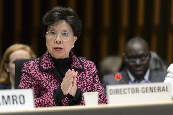 China's Margaret Chan, General Director of the World Health Organization, WHO, speaks about the Information Session on Zika virus for WHO Member State