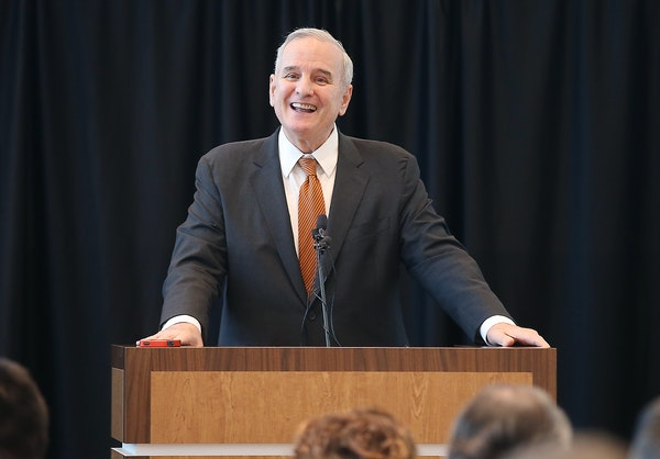 Governor Mark Dayton laughed after he said he was in a better place now than he was 24 hours ago after being introduced at the STEP-UP Achieve Annual