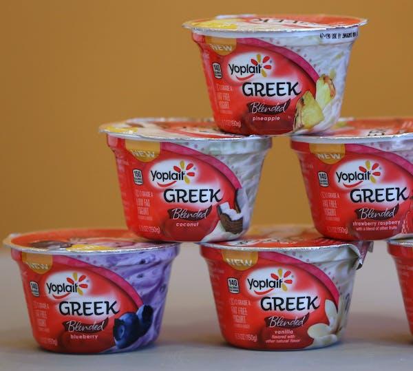 Yoplait Greek yogurt.