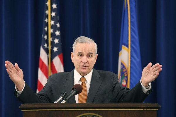 Gov. Mark Dayton unveiled his proposed list of state building and renovation projects backed by bonding dollars during a news conference at the Govern
