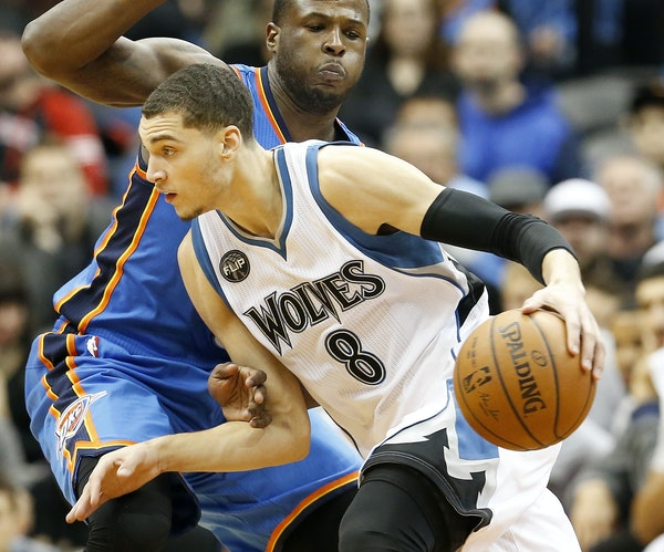 Zach LaVine is one of three 20-year-old Wolves players being asked to grow up fast while they learn the NBA game.