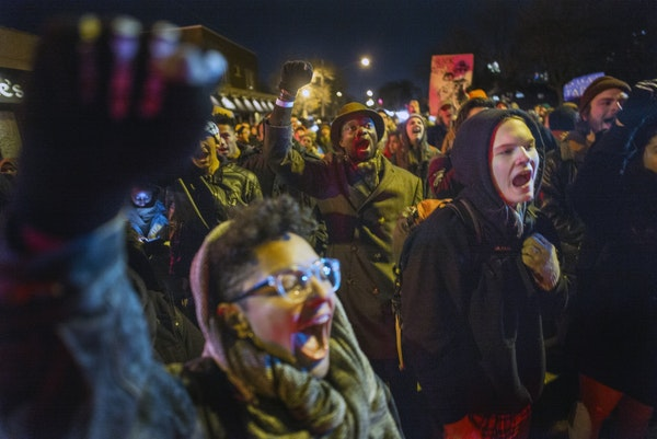 Black Lives Matter protesters who marched from City Hall to Elsie where there was to be a police fundraiser demanded answers in the death of Jamar Cla