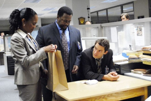 """From left: Sonja Sohn, Wendell Pierce and Dominic West are shown in a scene from HBO's """"The Wire."""""""