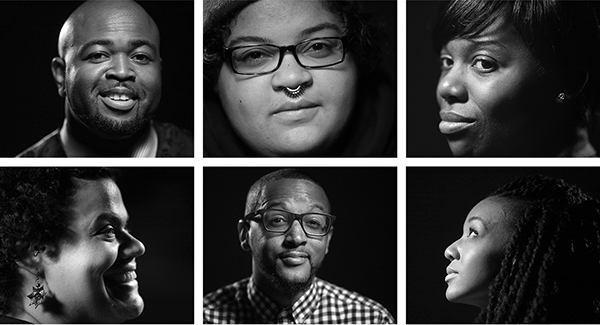 A new generation of leaders includes, from top left, Jason Sole, Jobi Adams, Shawntera Hardy, and, from bottom left, Lena Gardner, Chaun Webster and B