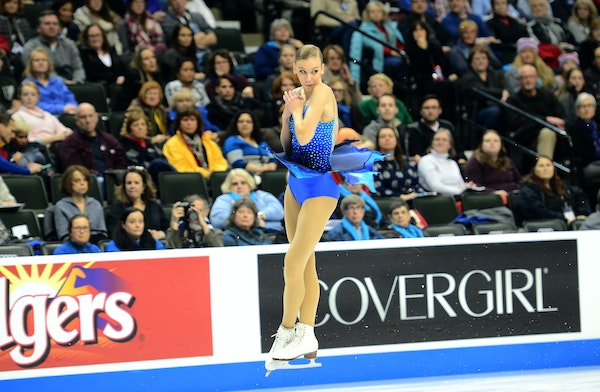 """Polina Edmunds, the second-place finisher at the U.S. Figure Skating Championships two years ago, was flawless in skating to Beethoven's """"Moonligh"""