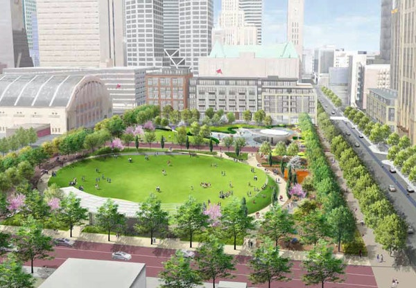 """""""Clearly, raising the remaining money will be a heavy lift,"""" said Jacob Frey, a Minneapolis City Council member and proponent, about the Downtown East"""