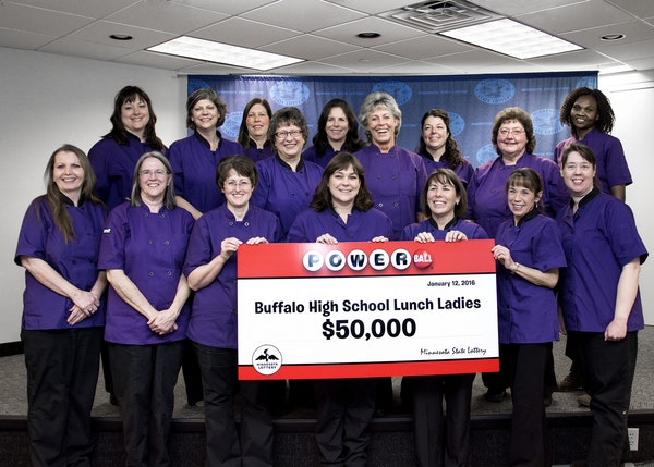 The records seen in 2016 by the Minnesota State Lottery were powered by a record $1.6 billion Powerball jackpot in January, when this group of Buffalo