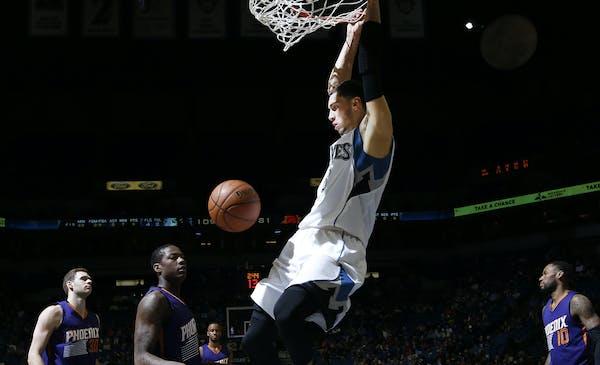 Zach LaVine dunked aginst Phoenix earlier this month.